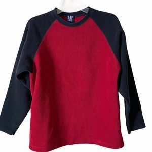 Vintage GAP Boys Red and Blue Fleece Pullover, XXL